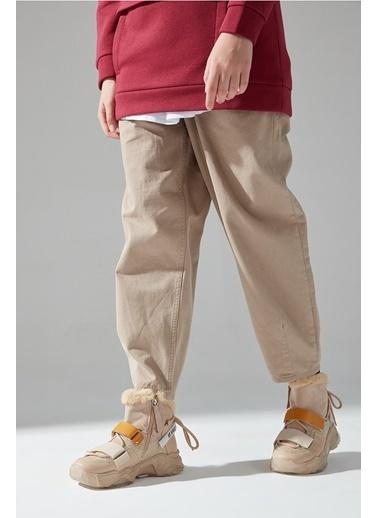 Mizalle Sim Detaylı Bootie Sneaker  Bej